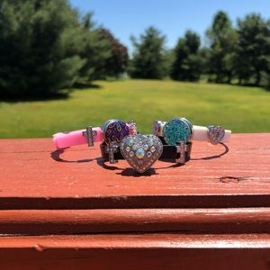 """Jewelry - """"Snap on Button"""" bracelet/adjustable 3 for $20"""